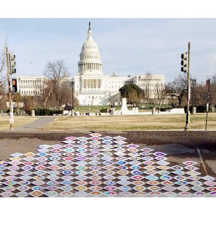 Biden-Harris inauguration ceremony began with Kolam artwork in front of the US Capitol